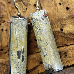 upcycled organic earrings