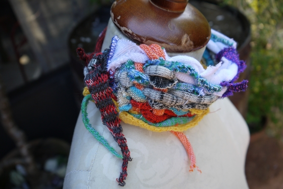 whimsical colorful choker neck adornment