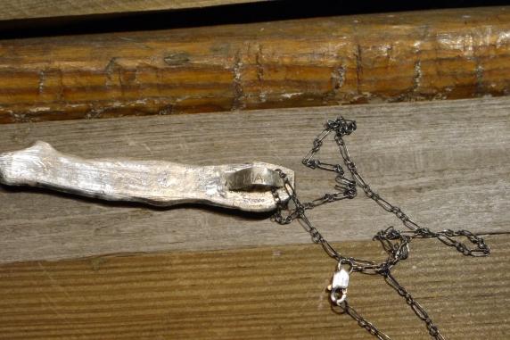 ooak sterling silver neckalce