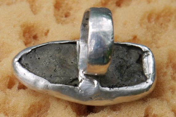 bezel set stone ring