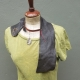 organic jewelry brown bohemian leather vest style bib necklace