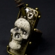 Steampunk day of the dead men's adjustable ring