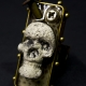 Industrial steampunk day of the dead men's ring