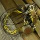 Industrial steam punk steel wire bracelet