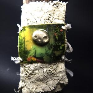 Day of the Dead pewter concrete skully bracelet
