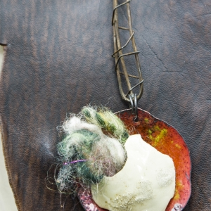 urban decay bohemian leather bib © necklace with fiber egg