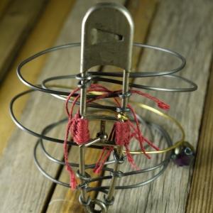 steel + brass wire bracelet