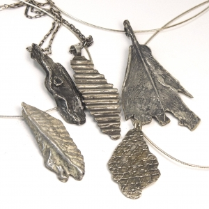 Cast sterling silver necklaces